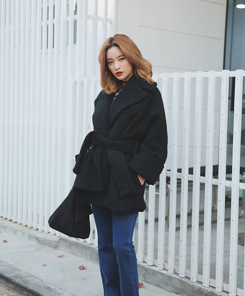 Wide Notched Lapel Coat