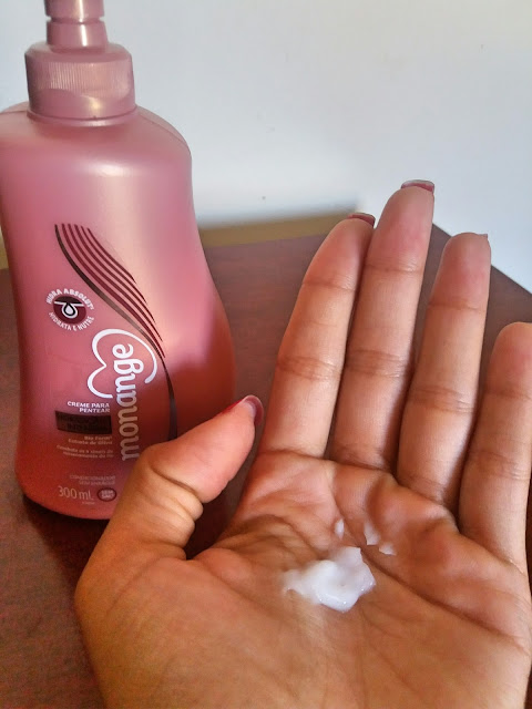 resenha-creme para pentear Monange- Hidratação intensiva.