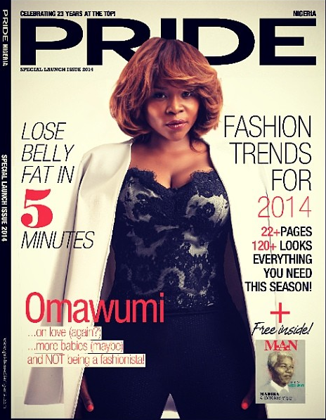 Photo: Omawunmi Looks Really Hot on Pride Magazine Nigeria 1st Edition Cover
