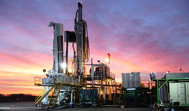 Image of rig in the Bakken