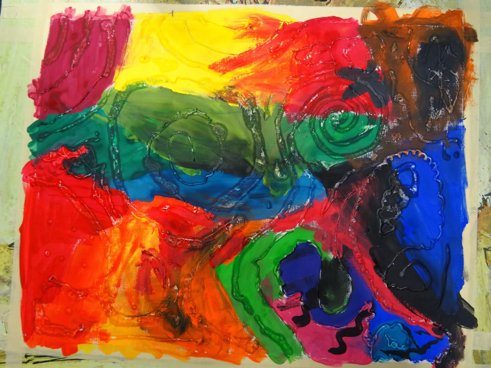 There\'s a Dragon in my Art Room: The wonderful magic of toothpaste batik
