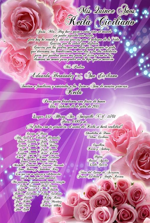 Artes DaVinci: Invitación de 15 y 16 Años en color Morado Lila con ...