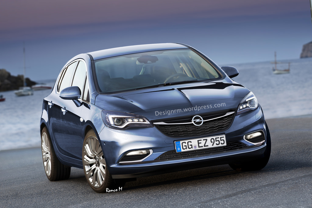 new opel and vauxhall astra hatch realistically rendered carscoops. Black Bedroom Furniture Sets. Home Design Ideas