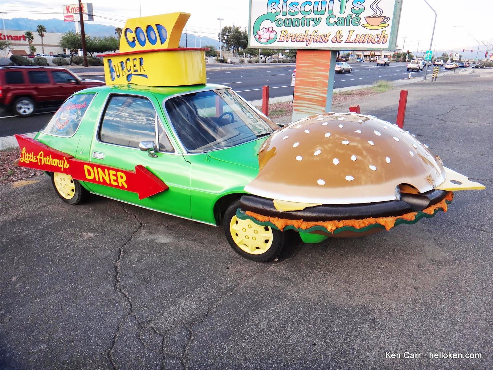 Ken Carr Blog A Green Amc Pacer With A Hamburger Hood And