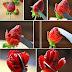 Strawberry flower-making