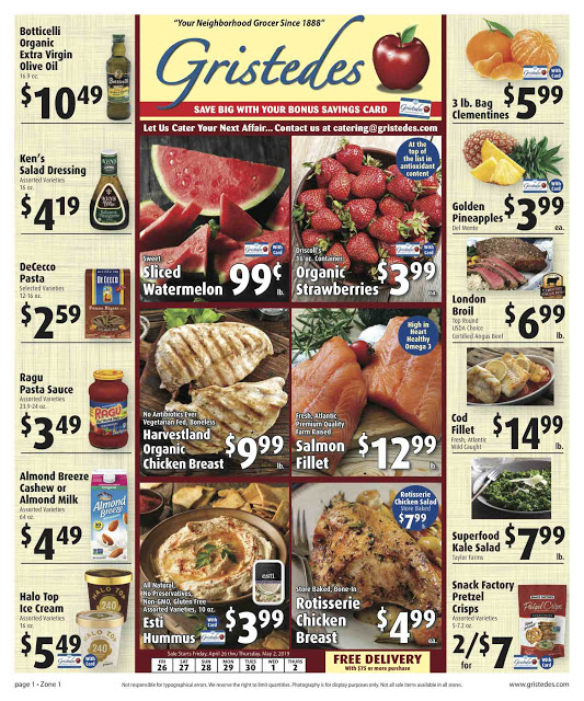 CHECK OUT ROOSEVELT ISLAND GRISTEDES Products, Sales & Specials For April 26 - May 2