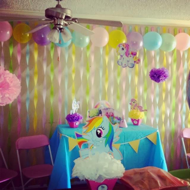 Decoraci n de fiesta de cumplea os de my little pony - Adornos fiesta de cumpleanos ...