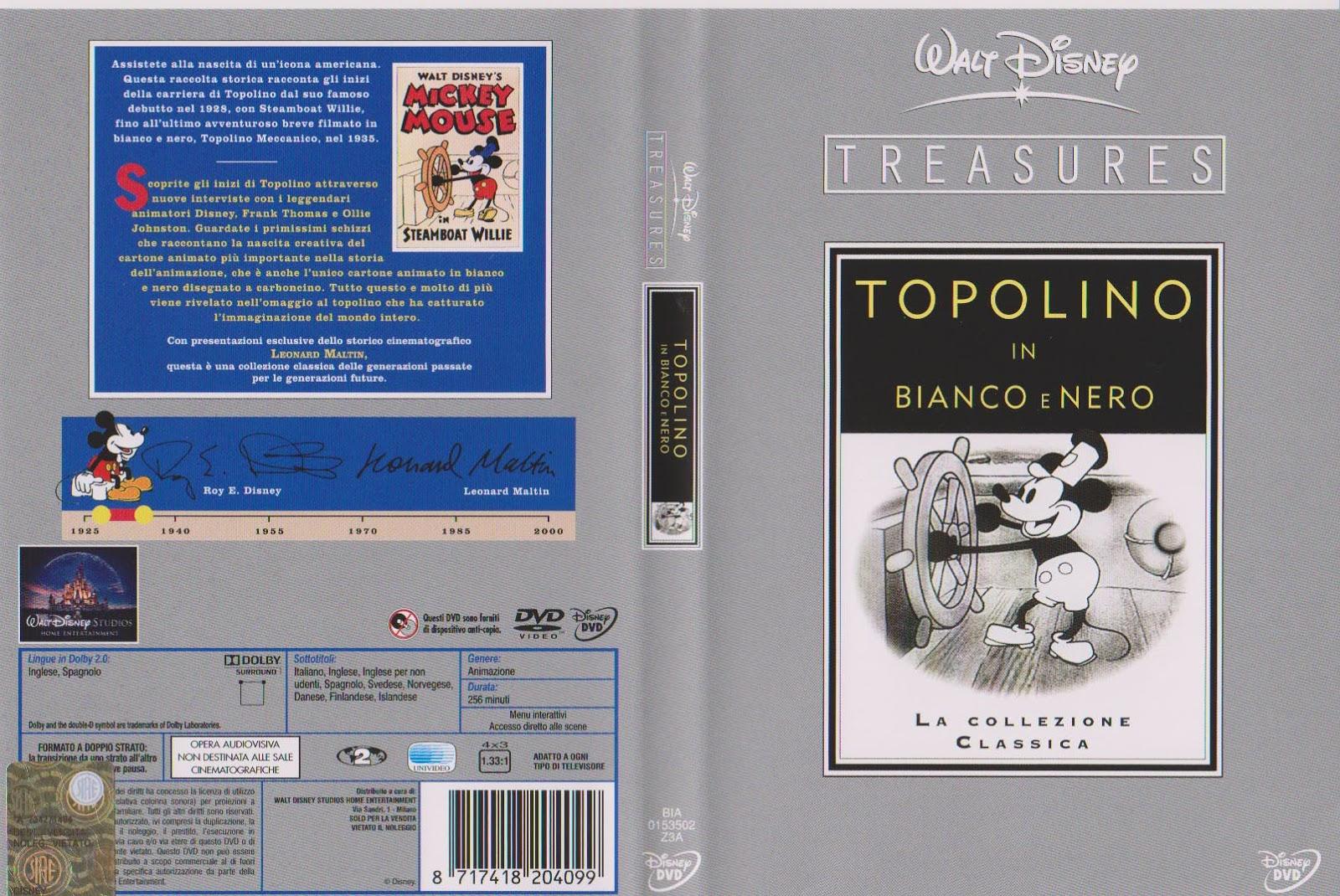 Disney animazione walt disney treasures topolino in bianco e