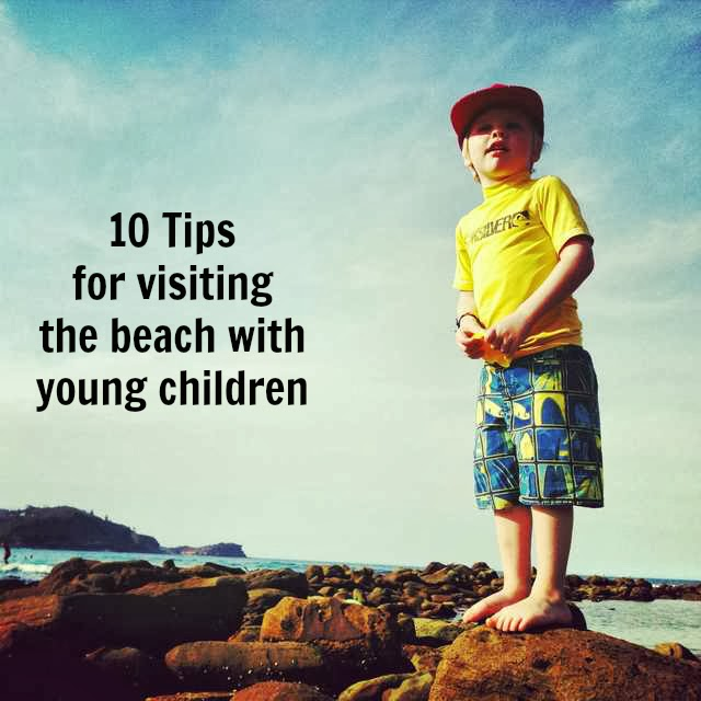 beach with young children or toddlers tips