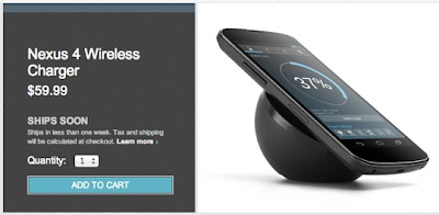 Google Nexus 4 Wireless Charging Orb Ships Soon