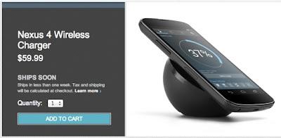 Google Nexus 4 Wireless Charging Orb Ships Soon