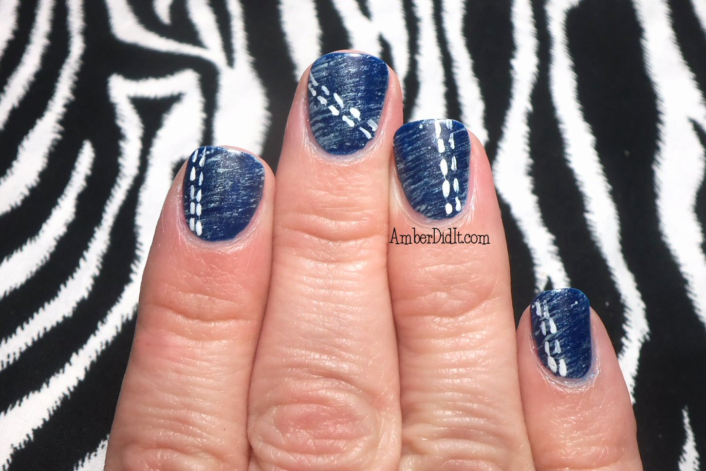 Amber Did It Patriotic Denim Nail Art