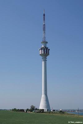 Turnul de televiziune Tuzla Techirghiol Eforie Sud vedere panoramica