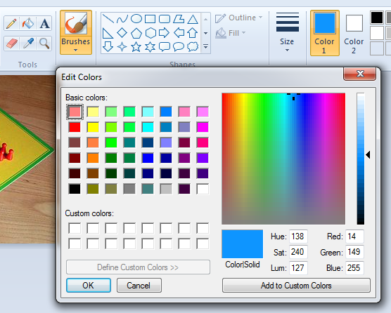 Paint Color Rgb Values
