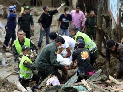 landslide in colombia