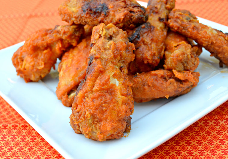 ... hot wings around here is fried we also love boneless hot wings and i