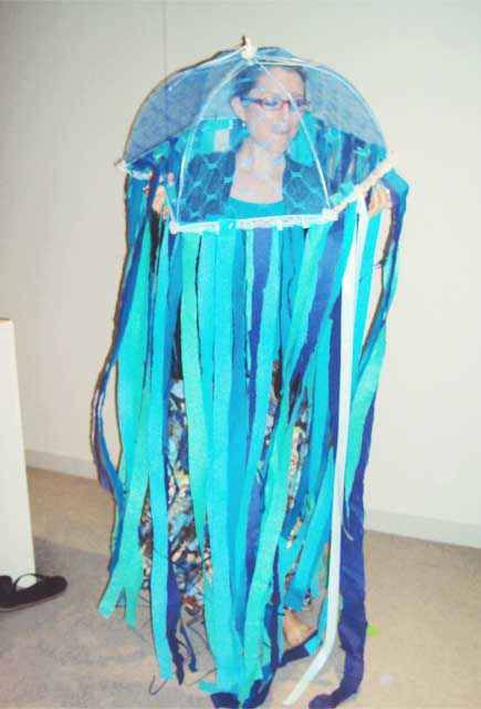 Homemade Jellyfish Costume