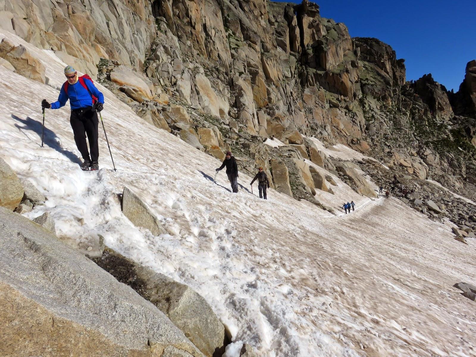 Primeros neveros en el Glaciar del Aneto