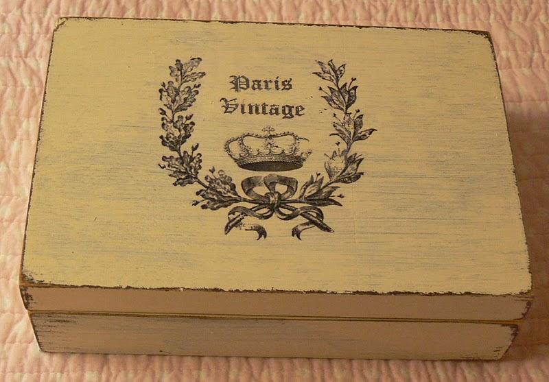 Las casitas de papel paris vintage transfer sobre madera - Barniz de transferencia ...