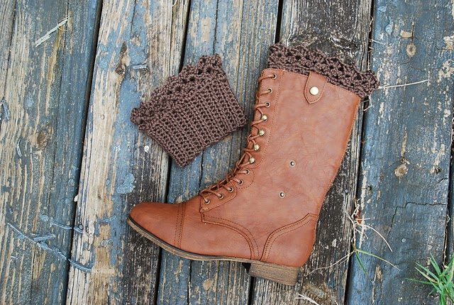free crochet pattern lace boot cuff