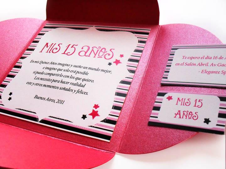 Invitación para 15 años - Sobre Flor Magenta!