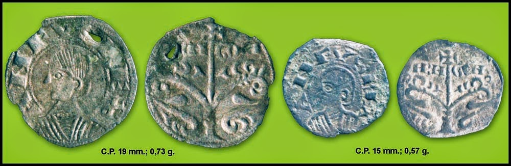 """Óbolo de Alfonso I """"El batallador"""" (Jaca, 1104-1134). Fig.+13.+Alfonso+Aragon+mo%C3%B1o"""