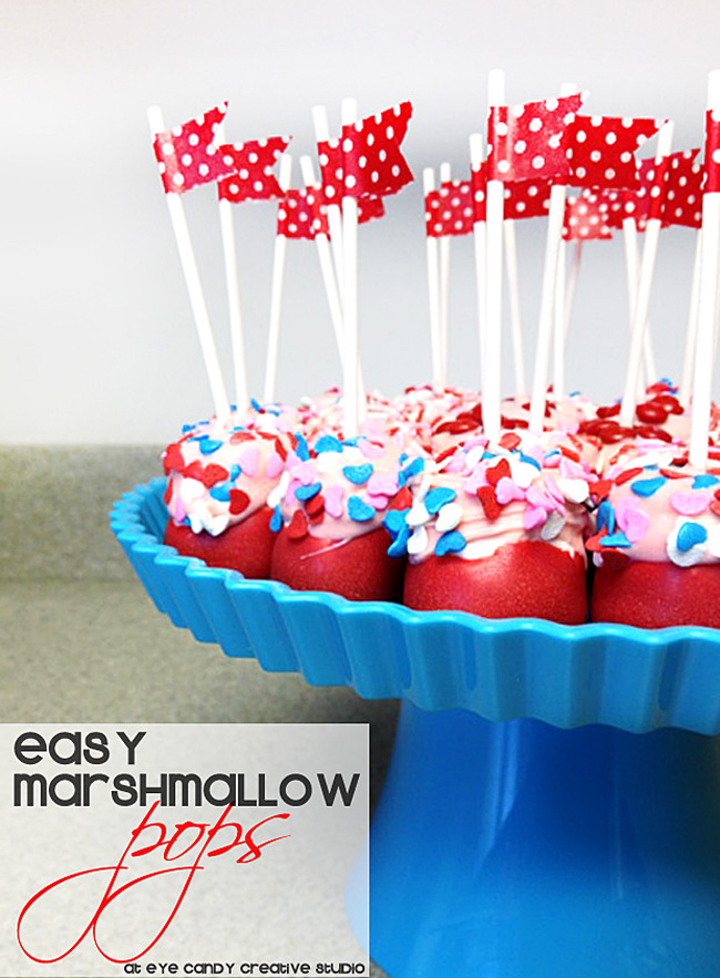 how to make marshmallow pops, valentines day treat, marshmallow