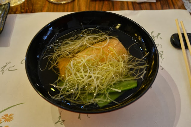 Restaurant Morikawa Den Haag Salmon soup