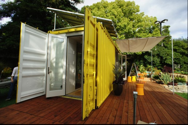 Shipping container homes 24ft prefab container home by hybrid architecture - Shipping container home kit ...