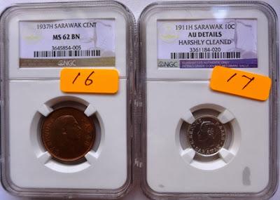 Sarawak 10 Cents 1911H