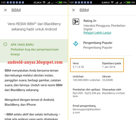 Download BBM 2.11.0.18 .APK Final Update Januari 2016 Terbaru