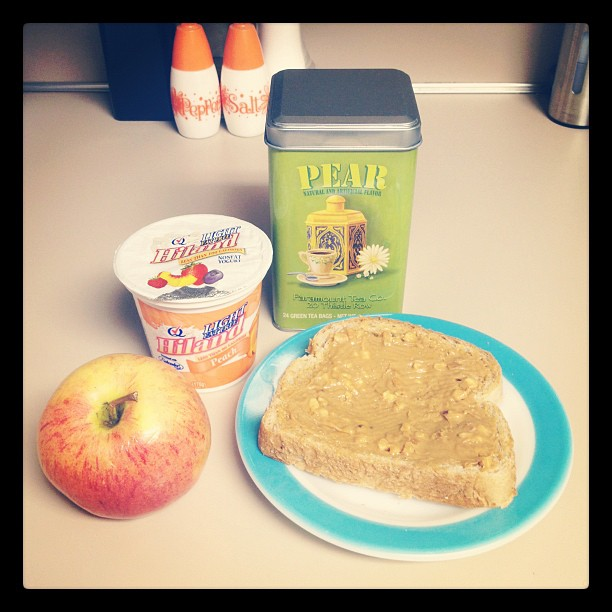 Day 2: Breakfast. 1 slice whole grain toast with a little peanut