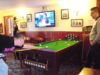 Bar Billiards at The Red Lion pub in Drayton, near Abingdon