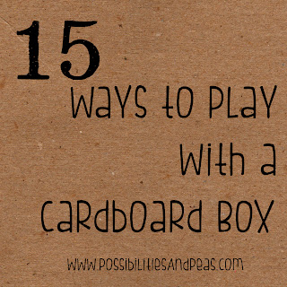 Possibilities and Peas: DIY Toys - The Cardboard Box
