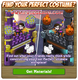 FarmVille Find Your Perfect Costume Notice