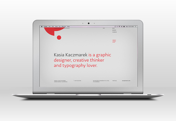 splash screen of a new website on a airmac