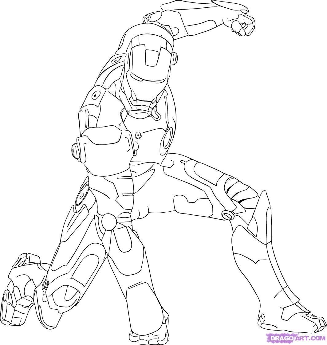 imagens para colorir do homem de ferro - Desenhos do Homem de Ferro Desenhos e Colorir