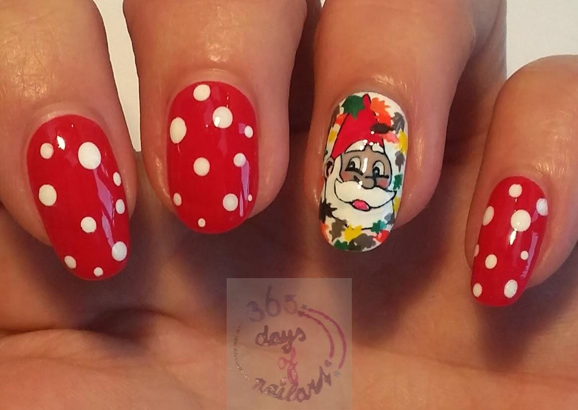 365+ days of nail art: Day 296) Fall nail art gnome