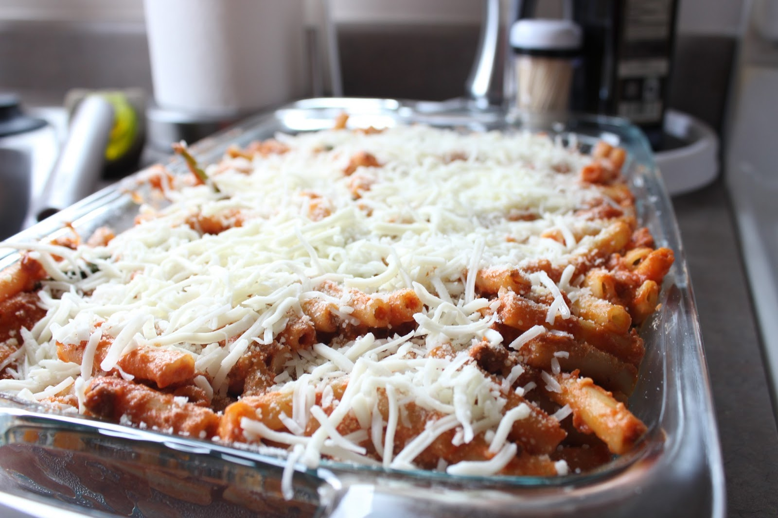 Married to Davis: Lasagna-Style Baked Ziti