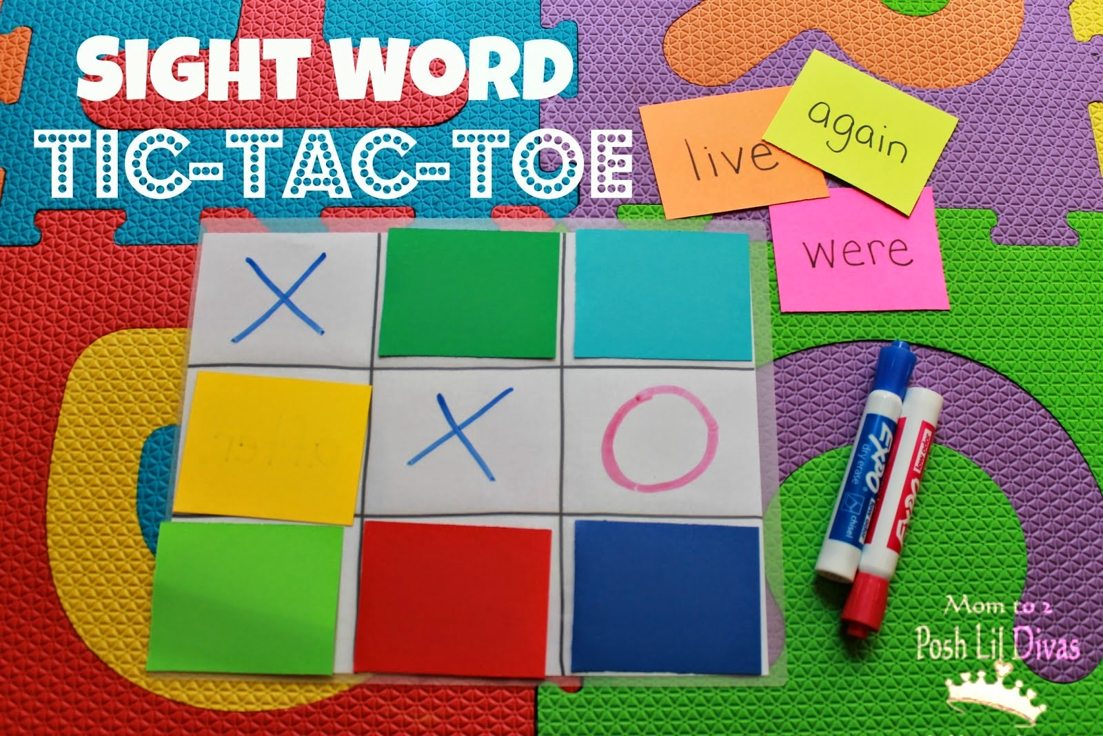 sight word tic tac toe pdf