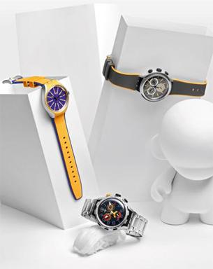 relógios de pulso masculino com pulseira de silicone metal e cronometro Swatch coleção