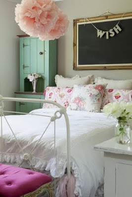 shabby chic bed ideas
