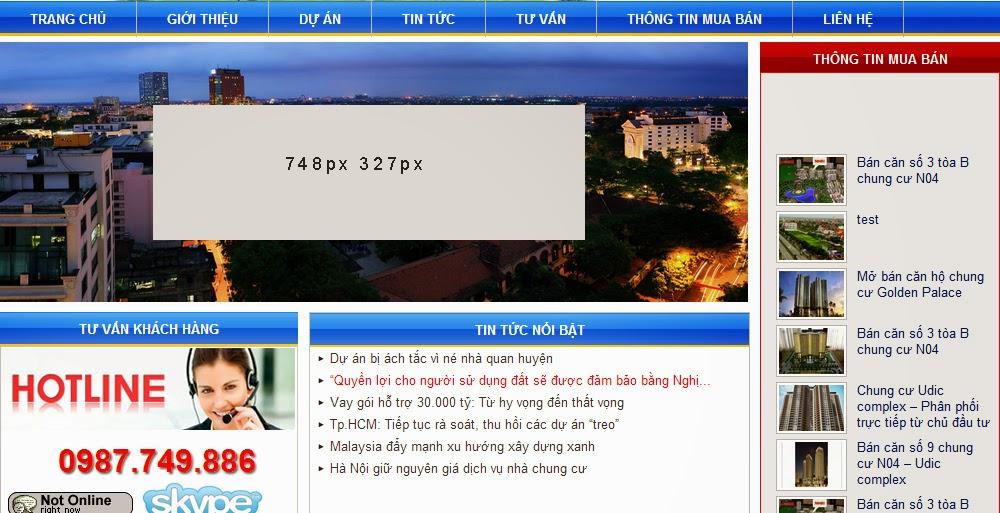 hình quảng cáo trang chủ - thiết kế website bằng wordpress