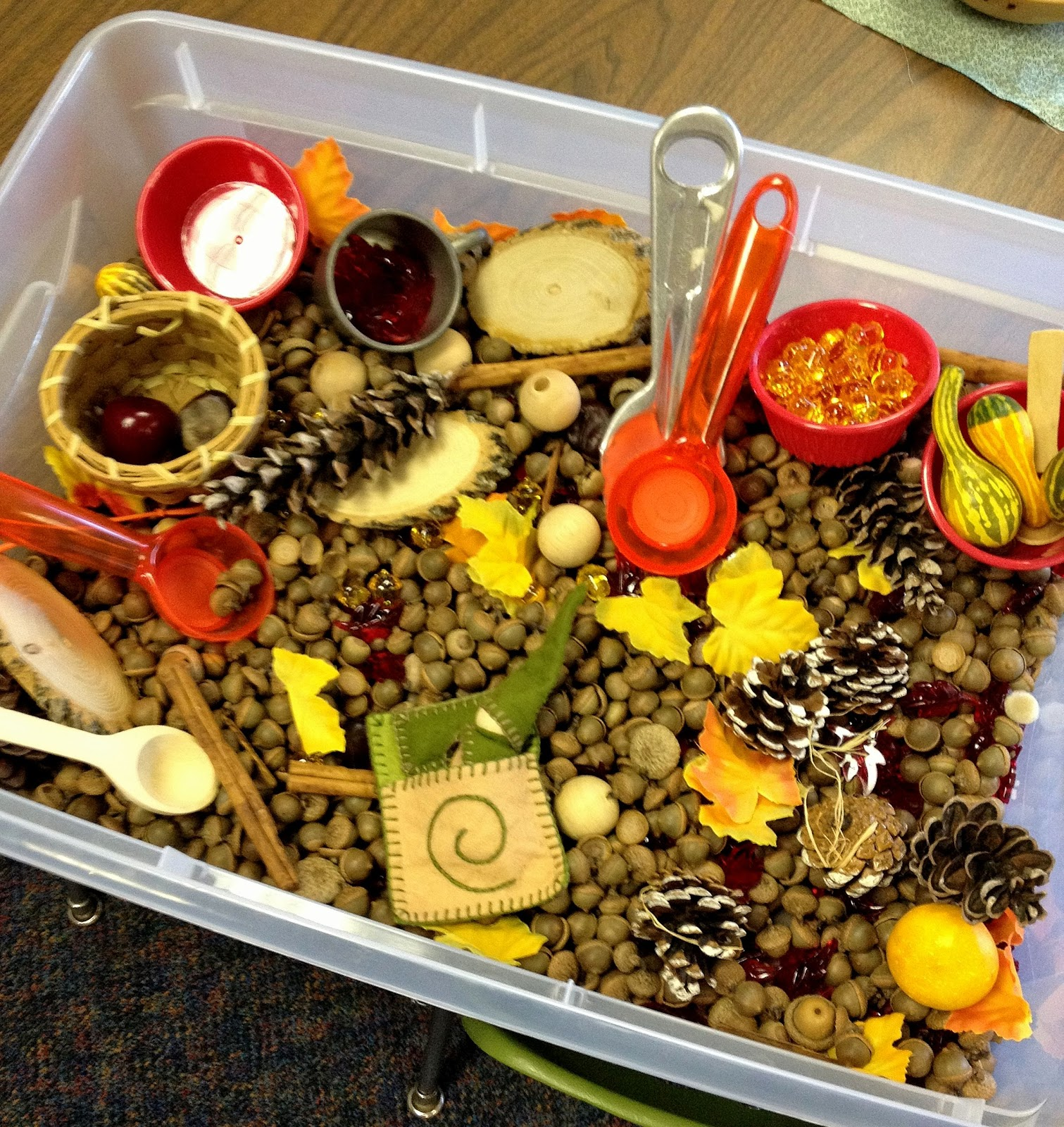 From the hive a few leaf fall preschool ideas for Fall table