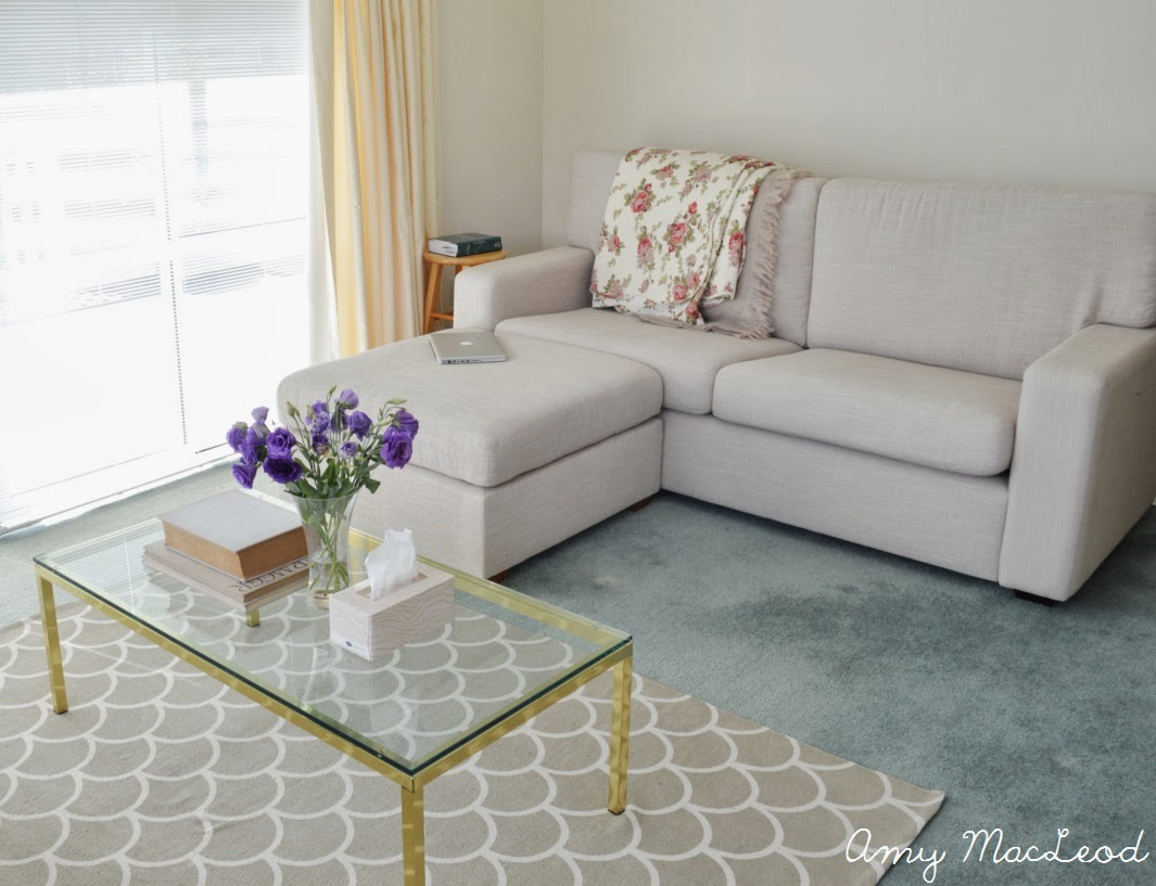 Living room before and after - Amy MacLeod