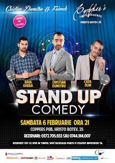 Stand-Up Comedy Sambata 6 Februarie Bucuresti
