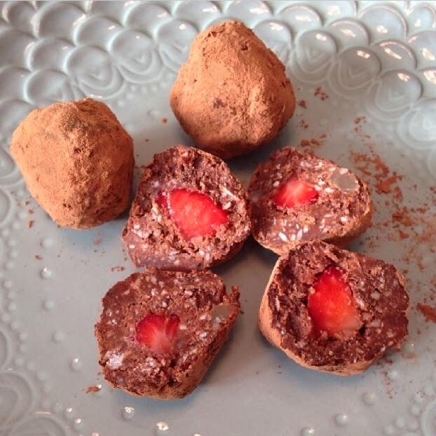 Cocoa truffles 3 ways planks love guacamole for Strawberry truffles recipe uk