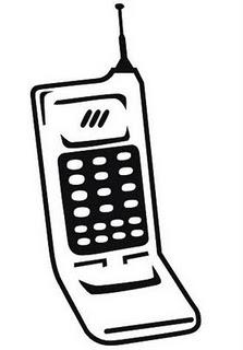Desenhos Preto e Branco telefones Colorir