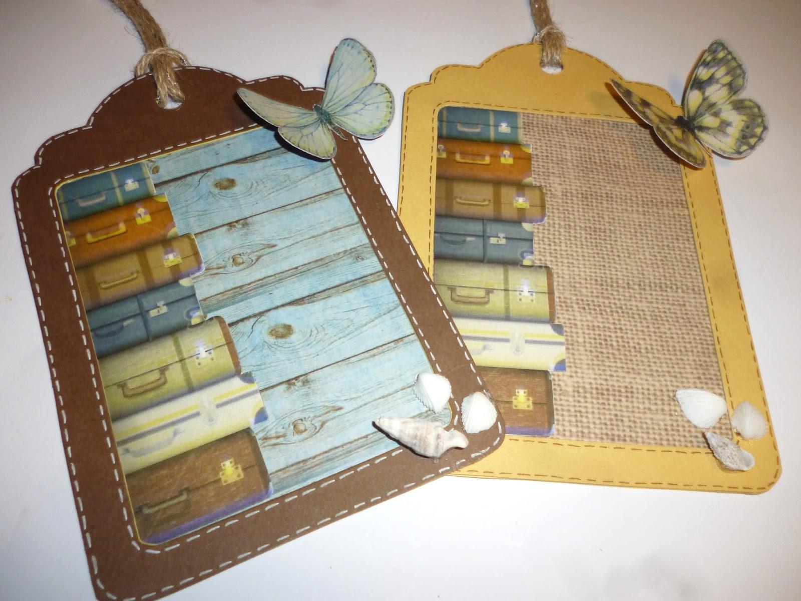 Ben noto cartoncino mio: Tag vintage per valigia ZK36