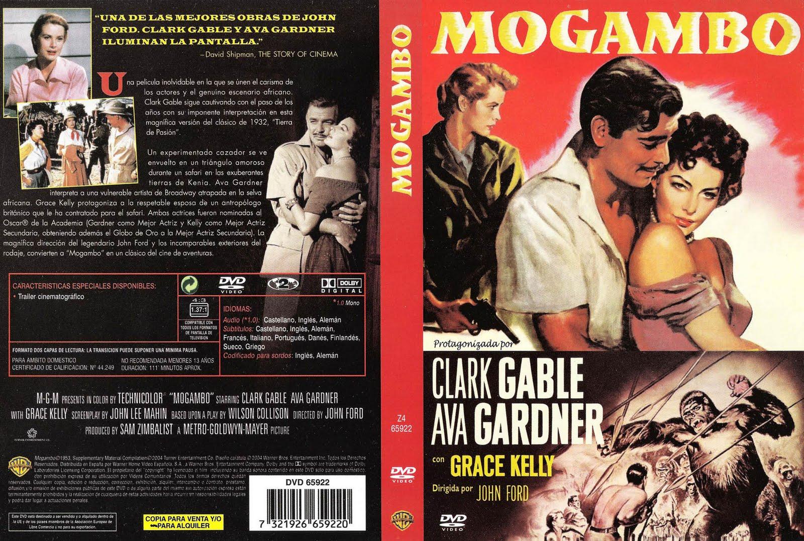 Mogambo 1953  Clark Gable Ava Gardner Grace Kelly